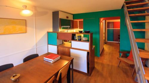 Apartment in Le Corbusier's Unité d'Habitation Renovated to Original Design by Philipp Mohr