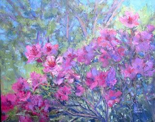 Sun Dappled Azaleas, New Contemporary Painting by Sheri Jones
