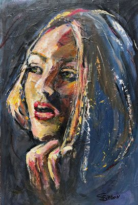 """""""Maybe We Could."""" - expressive acrylic painting by Arizonz Artist, Sharon Sieben"""