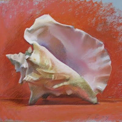 Conch Shell on Red