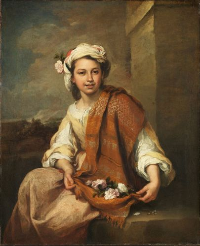 Celebrating The Earth's Beauty - 17C Spanish Flower Seller