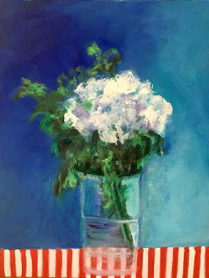 "Contemporary Still Life Art Painting ""Mums The Word"" by California Artist Cecelia Catherine Rappaport"
