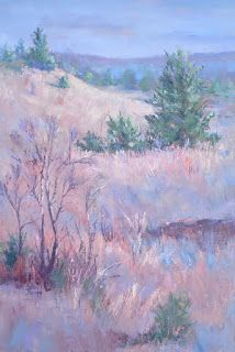 Texas Winter II, New Contemporary Landscape Painting by Sheri Jones