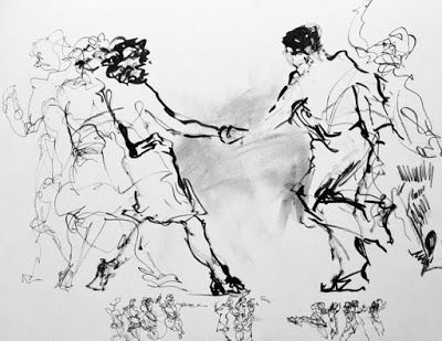 Jive Scribbles No. 7 - how I draw jive dancers