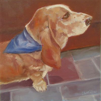 Beau - 8 x 8 inches - oil on canvas