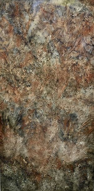 """Contemporary Art, Abstract Painting, Expressionism, Mixed Media, """"FOREST WEB"""" by Contemporary Artist Liz Thoresen"""