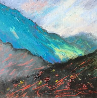 """Abstract Contemporary Landscape, """"Mountain View,"""" by Amy Whitehouse"""