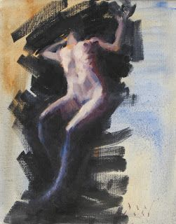 Expressive female nude painting
