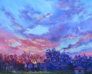 Lynda's View, New Contemporary Landscape Painting by Sheri Jones