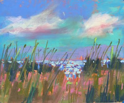 "Contemporary Beach Landscape, ""Soak Up The Sun"""