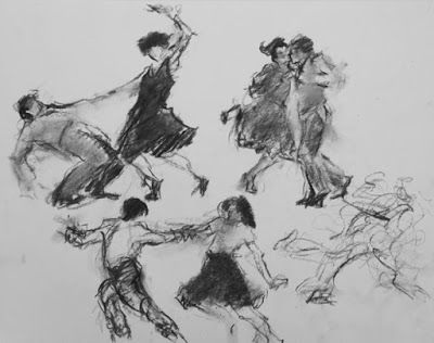 Jive Scribbles 5 - charcoal figurative drawings