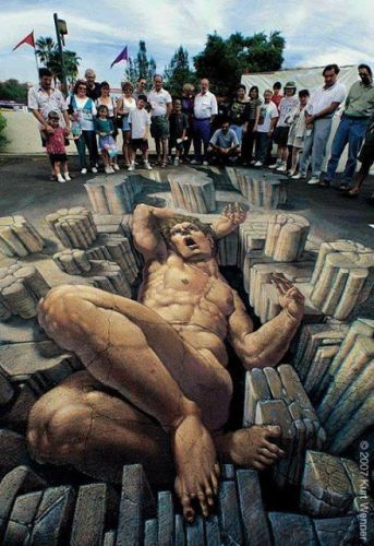 Amazing 3D street arts that will mess with your mind