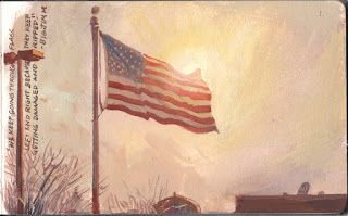 Painting The American Flag