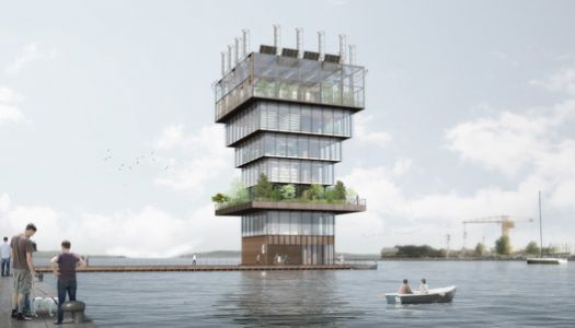 Studio NAB designs a Floating Urban Farming Tower for Future Cities
