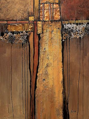 "Southwest Abstract Fine Art Print ""Tapestry"" by Colorado Mixed Media Artist Carol Nelson Fine Art"