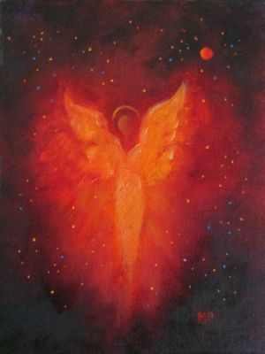 ANGEL OF LOVE - Original Angel Oil Painting by Marina Petro