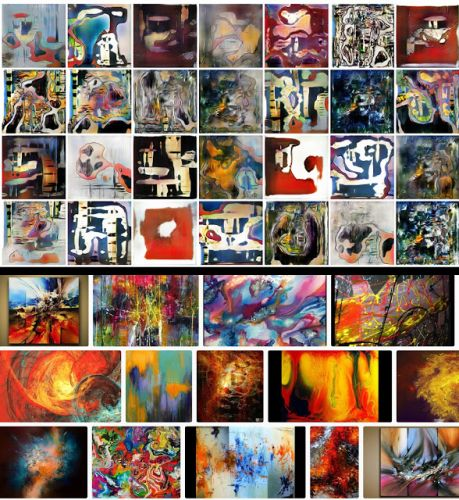 Abstract Paintings-by Humans or A.I.?