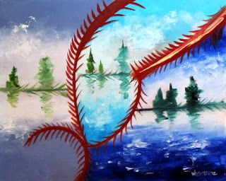 Mark Webster - Abstraction 23 - Abstract Landscape Oil Painting