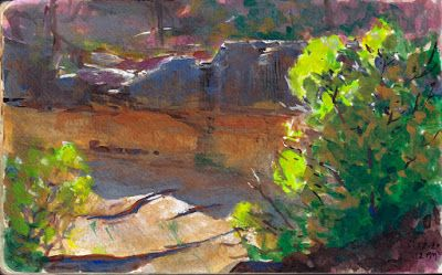 Another Journey into the Canyon-and Some Thoughts on Gouache as a Plein Air Painting Medium