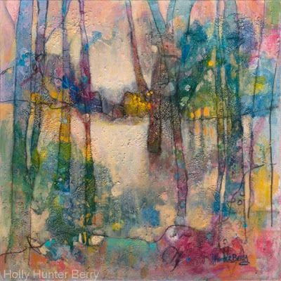 """Contemporary Abstract Landscape, Fine Art Painting """"Headed for Home"""" by Passionate Purposeful Painter Holly Hunter Berry"""