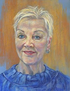 Konnie's portrait in pastels by Kim Blair