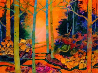 "Contemporary Landscape Fine Art Print, Trees, ""Wonderland"" by Carol Nelson Fine Art"