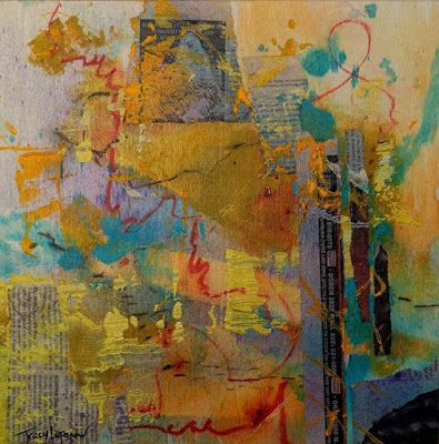 """Abstract Painting, Contemporary Art, Expressionism, """"Undercurrent"""" by Contemporary Artist Tracy Lupanow"""