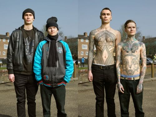 Portraits of Tattooed People, With and Without Clothes