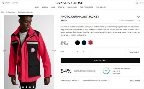 Canada Goose Sells a 'Photojournalist Jacket' That Costs $850