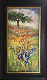 """New """"Waves of Wildflowers II"""" Texas Bluebonnet Painting by Niki Gulley"""