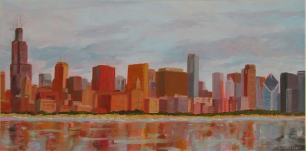 Chicago - 10 x 20 inches - oil on canvas- SOLD
