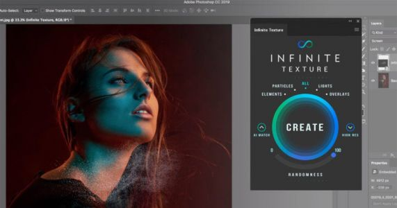 Infinite Texture Panel is an AI-Powered Texture Tool for Photoshop