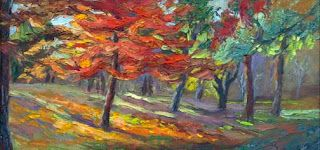 "New ""Marching into Autumn"" Palette Knife Painting by Niki Gulley"