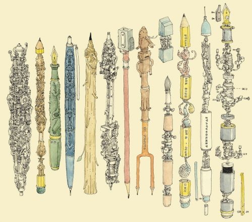 Pen collecting