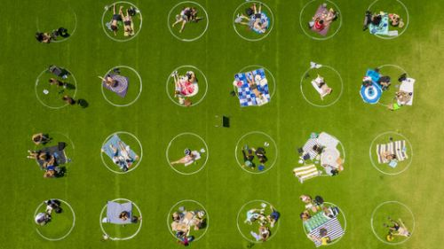 Domino Park Introduces Social Distancing Circles to Adapt to the COVID-19 Crisis