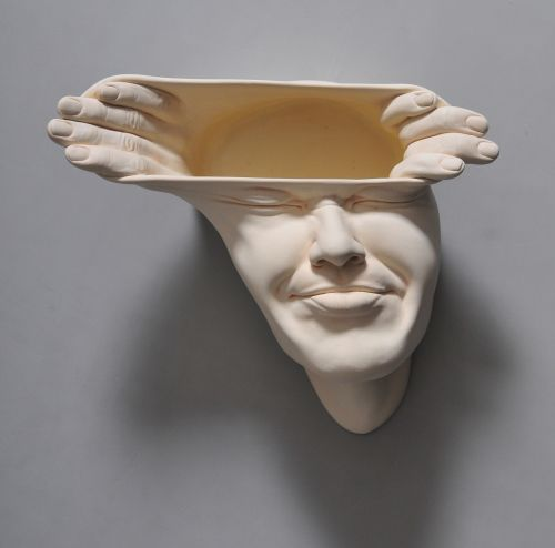 Open Mind: New Warped Face Sculptures by Johnson Tsang