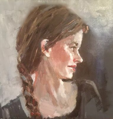 What I'm Working On - portrait painting in oil Work in Progress