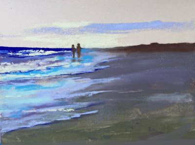"Contemporary Beach Landscape, ""Bliss,"" by Amy Whitehouse"