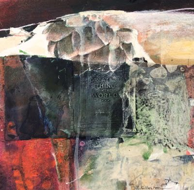Abstract Mixed Media Painting 'The Greatest Thing' by Intuitive Artist Joan Fullerton