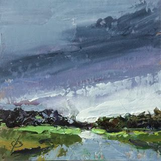 ROAD, SKY, CONTEMPORARY OIL PAINTING by TOM BROWN