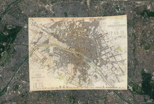 120 Ancient Maps Overlapped on Google Earth Reveal the Growth of Cities Across the World