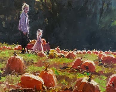 """""""The Pumpkin Princess"""" paintings from the pumpkin patch by Robin Weiss"""