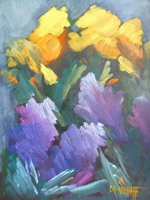 """Spring's Glory"" oil painting by Texas Artist Niki Gulley"