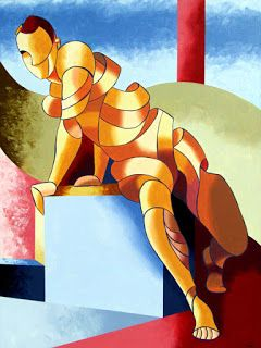 Mark Webster - Jesse 1302 - Abstract Figurative Acrylic Painting