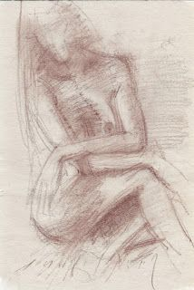 Seated female nude with hands crossed