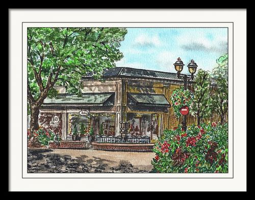 Corner Shop Of Little Town Camas Watercolor Plein Air Day