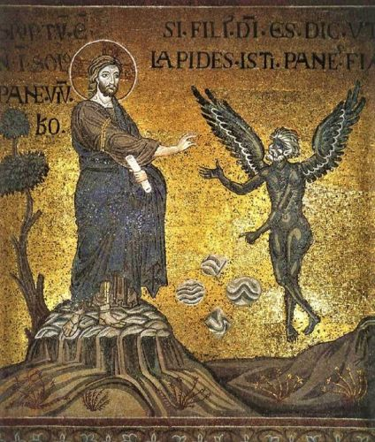 Lent - Temptations in the Wilderness - Christ & Satan 12C