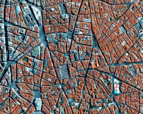 9 Cities with Medieval Plans Seen from Above
