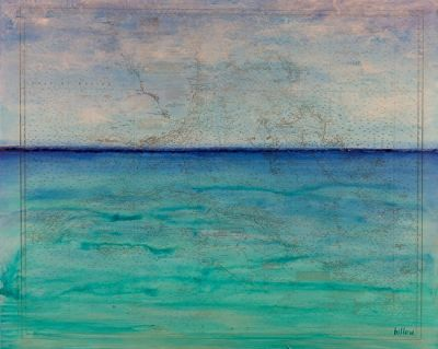 "Contemporary Map Art, Florida Map "" STILL WATERS RUN DEEP "" by Contemporary Artist Brian Billow"