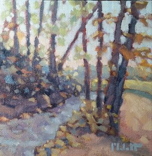 Autumn Landscape Painting Original Art Spring Mill State Park